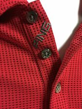Ping Golf Polo Shirt Men XL Red Black Spotted Textured Performance Dynamics