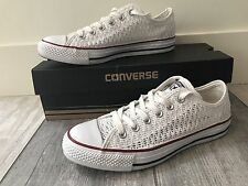 CONVERSE Chuck Taylor All Star Low Crochet White W8 ***MINT CONDITION***