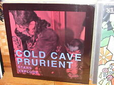 "Cold Cave x Prurient Stars Explode LP NEW SEALED Limited Ed rare tour only 12"" 7"