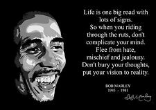 BOB MARLEY INSPIRATIONAL QUOTE POSTER WITH PRE-PRINTED AUTOGRAPH (1)