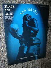 VINTAGE 1988 BLACK AND BLUE ROCK & ROLL SHEET MUSIC BY EDWARD & ALEX VAN HALEN