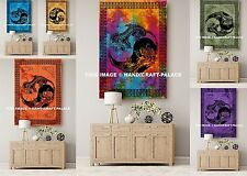 Indian Cotton Wall Hanging 10 PC Wholesale Lot Yoga Mat Dragon Yin Yang Tapestry