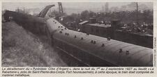 1982  --  A LA RABATTERIE  DERAILLEMENT DE TRAIN EN SEPTEMBRE 1927   3E835