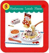 Re-ment Mushroom Paradise Pasta Lunch & Soup, Lunch Menu & Match Box