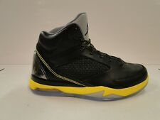 BRAND NEW NIKE AIR JORDAN FLIGHT REMIX 679680-070 BLACK/YELLOW UK 8.5