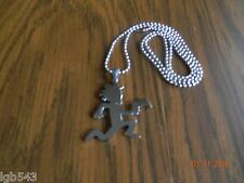 ICP HATCHET MAN GAMER Polished Stainless Steel pendant w/30inch ball chain