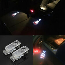 2x Logo Ghost Shadow Projector Courtesy LED Door Light For AUDI A4/S4 2003-2014