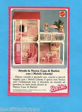 TOP989-PUBBLICITA'/ADVERTISING-1989- MATTEL- NUOVA CASA DI BARBIE MOBILI LIBERTY