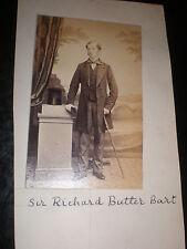 Cdv Old Photograph Sir richard Butler 9th baronet of Cloughgrenan Ireland c1860s