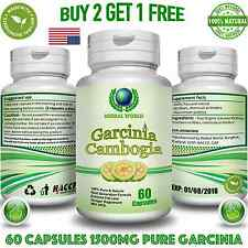 Pure Garcinia Cambogia 1500mg 96% Slimming Weight Loss Fat BURNER Diet Pills