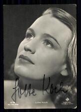 Lotte Koch (+) película-foto editorial autografiada mapa original firmado # bc 1609