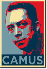 ALBERT CAMUS ART PHOTO PRINT POSTER GIFT (OBAMA HOPE STYLE) PHILOSOPHY