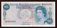 1972   50p  Isle of Man Government    Unc   Prefix B