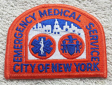 CITY OF NEW YORK EMERGENCY MEDICAL SERVICE PATCH Embroidered Badge Ambulance USA
