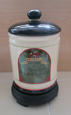 Vintage 1995 Tuscan Italy Ceramic Airtight Storage Cannister Vino Dolce Rosso