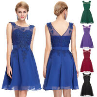New Applique Short Bridesmaid Dresses Prom Evening Party Cocktail Wedding Gown