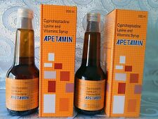 2X APETAMIN CYPROHEPTADINE LYSINE AND VITAMINS SYRUP - 200ml
