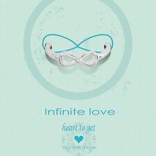 """Novità Heart to get-ARGENTO-Anello """"INFINITE LOVE"""" - Tg. 56"""