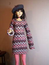 Sweater Weather Outfit for 64 cm BJD Girls like Fin, SID, Soom, Dollmore Model