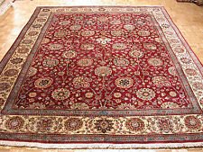 10x13 Persian Oriental Traditional Tabriz Hand Knotted Wool Red Carpet Area Rug