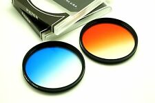 77mm Graduated Blue + Orange Filters Set For Nikon Canon DSLR SLR & Others Lens