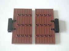 Lego - Grandes portes marrons 1x5x8.5 pour forteresses, châteaux / REF 87601