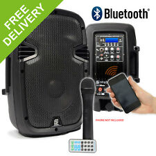 "Battery FULLY WIRELESS PA System Portable 8"" Active Bluetooth Speaker DJ 350W"