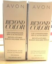 LOT OF 2 NEW AVON BEYOND COLOR LIP CONDITIONER SPF 15 SUNSCREEN