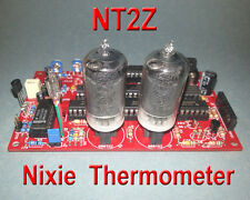 Nixie Thermometer Kit w/ZM1000 nixie tubes - 12VDC - PCB w/ Parts (No IN-13)