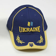 Ukrainian Blue-Yellow Cap Embroidered Tryzub Flag Hat Coat of Arms