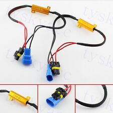 2X 9005 9145 HB3 H10 LED Fog Light Bulb Load Resistor Decoder Error Warning Part