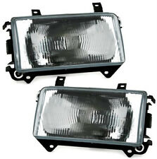 Dark clear finish headlights SET FRONT lights FOR VW T4 BUS TRANSPORTER from 90