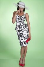 Bettie Page By Tatyana Black Roses Wiggle Dress
