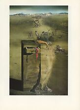 "1976 Vintage SALVADOR DALI ""SPAIN"" LOVELY & FAMOUS COLOR Art Print Lithograph"