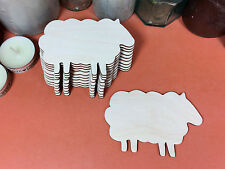 WOODEN SHEEP  Shapes 10cm(x10) laser cut wood cutouts crafts blank shape