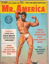 Mr America Bodybuilding Fitness Magazine Reg Lewis /Steve Reeves Hercules 8-59