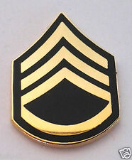 US ARMY RANK  E6 STAFF SERGEANT Military Veteran Hat Pin 14427 HO