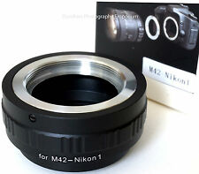 M42 Screw Lens to NIKON 1 Mount Camera Adapter (Fits J1 J2 J3 V1 V2 & N1 cameras