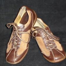 Born Leather Lace Up Tan Brown Shoes W62141 Women's US Size 8 M EU 39
