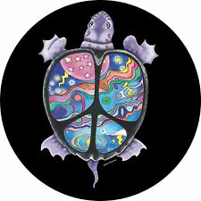 Turtle Peace - Custom Spare Tire Cover - Wheel Cover