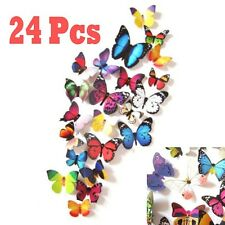 24pcs 3D Butterfly Design Decal Art Wall Stickers Room Decorations Home Decor HQ