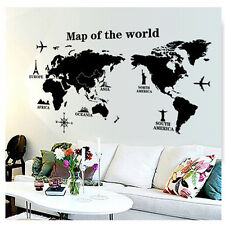 World Map Removable PVC Vinyl Art Wall Sticker Room Decal Mural Home Decor