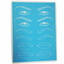 Silicone Rubber Tattoo Practice Skin Permanent Makeup Eyebrow Lips Pattern Tool