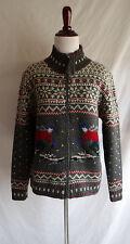 Lauren Ralph Lauren Wool Skiier Nordic Scandinavian Snowflake Fair Isle Sweater