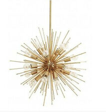 MID CENTURY MODERN BRASS SPUTNIK URCHIN CHANDELIER LIGHT FITTING 30inch 20 BULB