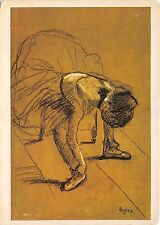 B74889 edgar degas seated dancer adjusting her shoes painting    art