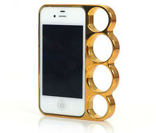 Gold iphone 4 4s knuckle duster phone case quality  plastic cover
