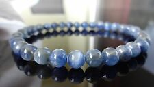 Genuine Blue KYANITE bead bracelet for MEN (On Stretch) AAA Quality 6mm - 8""