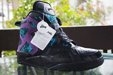 Rare Reebok Sample The Pump Blacktop Battleground Black/Purple Sneakers Sz 11.5