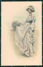 Art Nouveau Lady Viennoise MM Vienne 116 postcard cartolina QT7088